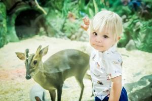 дети в белом кенгуру